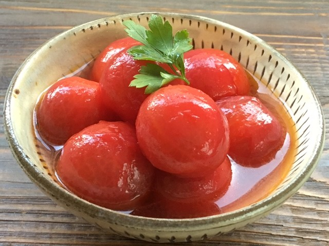 ミニトマトのぶどう酢マリネ♪