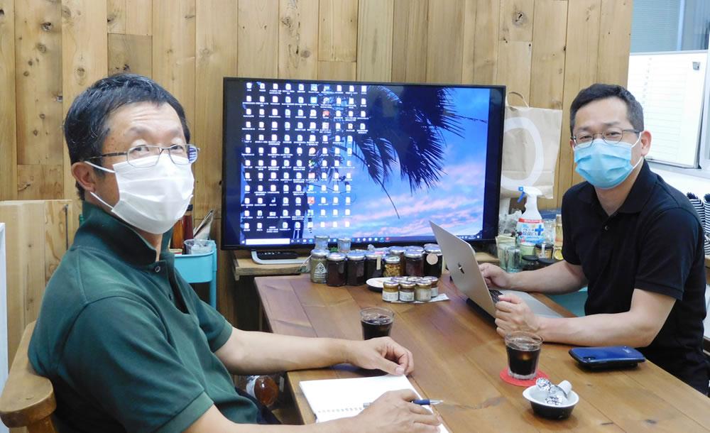 堺の有限会社千総さんで西辻社長と2020年度のビネガーとシロップについてミーティング